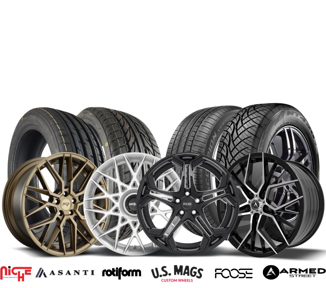 Canada Custom Autoworks Street Rim and Tires